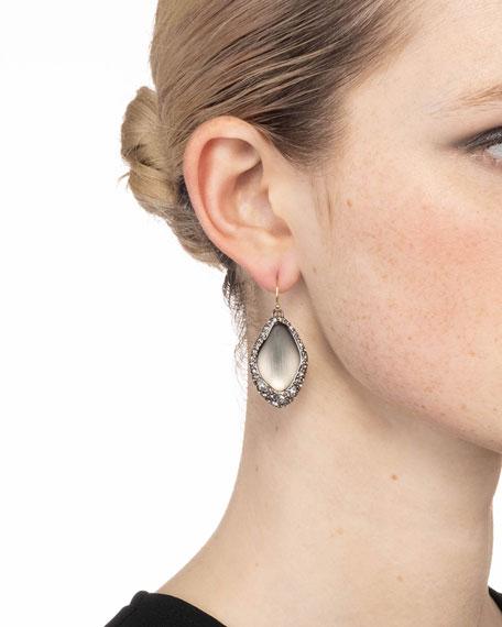 Alexis Bittar Pave Encased Drop Wire Earrings, Gray