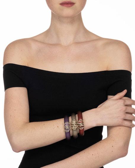 Alexis Bittar Pave Orbiting Hinge Bracelet, Purple
