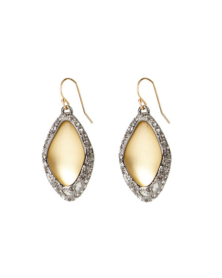 Alexis Bittar Pave Encased Drop Wire Earrings, Gold