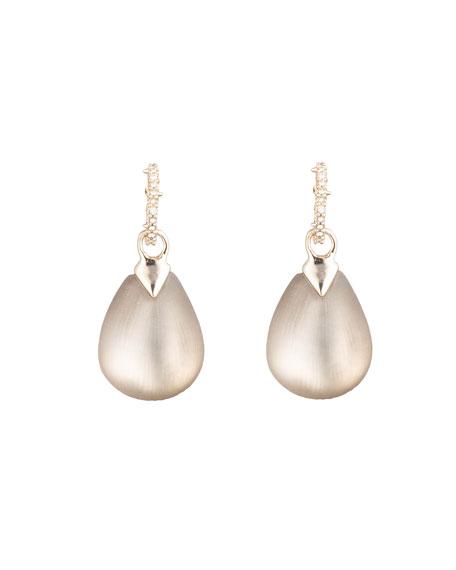 Alexis Bittar Tear Drop Crystal Post Earrings, Gray