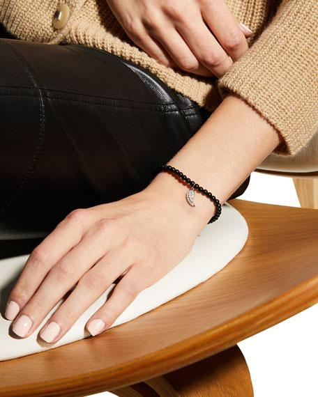 Sydney Evan 14k White Gold Diamond Wing & Black Onyx Bracelet