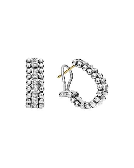 LAGOS Caviar Spark Diamond Huggie Earrings