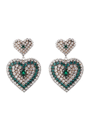 Dannijo Amo Crystal Heart Earrings