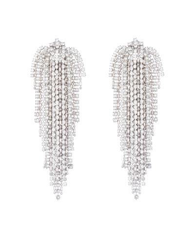 Julia Crystal Fringe Earrings