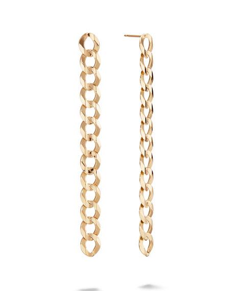 LANA 14k Curb-Link Linear Earrings