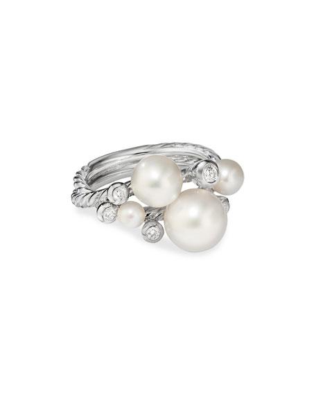David Yurman Pearl & Diamond Cluster Ring, Size