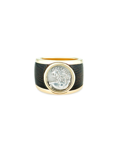 18k Chersonesos Lion Signet Ring