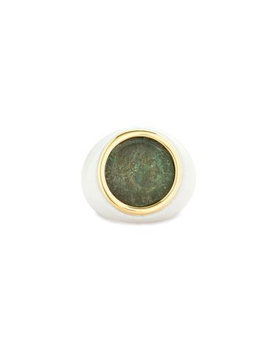 18k Emperor Ring  Size 6