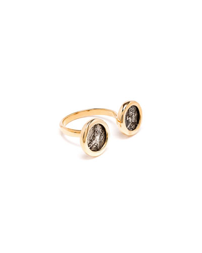 18k Kings of Persis 2-Coin Ring  Size 6.5