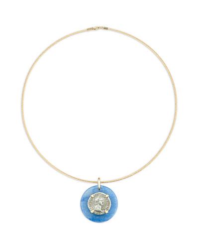 18k Domitian-Era Denarius Coin Choker Necklace
