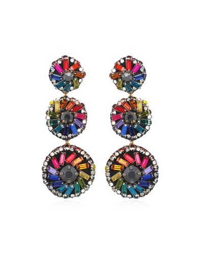 Florian Pinwheel Large Drop Earrings