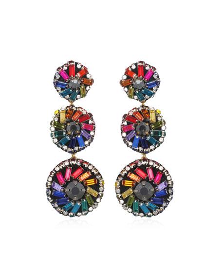 Suzanna Dai Florian Pinwheel Large Drop Earrings