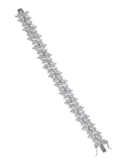 Golconda by Kenneth Jay Lane Marquise Cubic Zirconia Tennis Bracelet