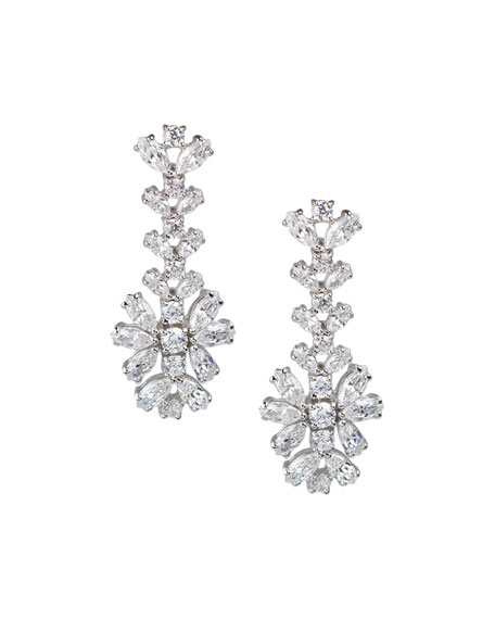 Golconda by Kenneth Jay Lane Cubic Zirconia Round & Marquise Drop Earrings