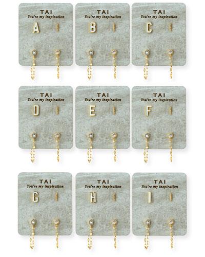 Ceramic Letter Earring Set