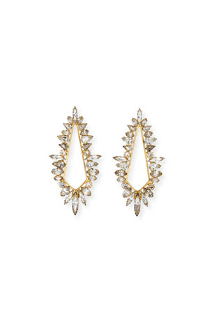 Elizabeth Cole Diana Open Crystal Earrings