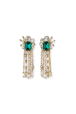 Elizabeth Cole Leigh Crystal Fringe Earrings