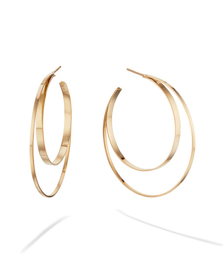 Lana 14K SMALL DOUBLE-CIRCLE HOOP EARRINGS