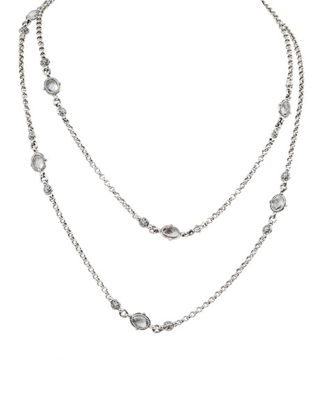 Konstantino PYTHIA DOUBLE-STRAND CRYSTAL EYEGLASS NECKLACE