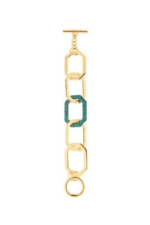 Oscar de la Renta Octagonal Link Bracelet