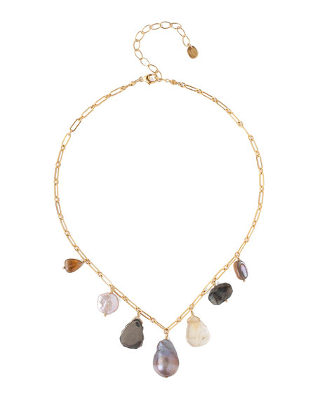 Chan Luu Mixed-Charm Necklace w/ Pearls