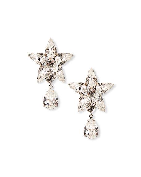 Jennifer Behr Celina Crystal Star-Post Drop Earrings