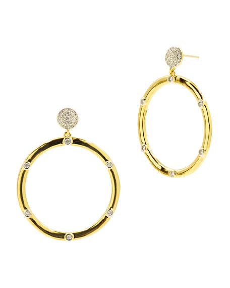 Image 1 of 1: Radiance Open Drop Earrings, Gold