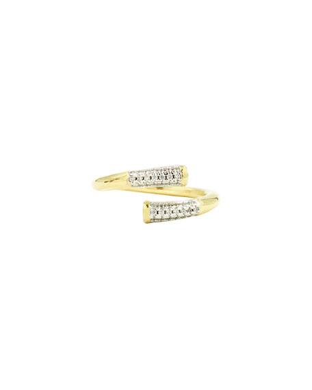 Freida Rothman Radiance Twisted Matchstick Ring, Size 6-8, Gold