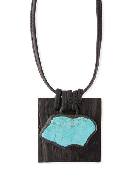 Eskandar Kamong Wood Pendant