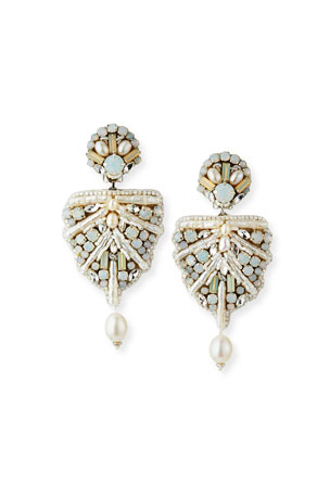 Ranjana Khan Naomi Mixed-Pearl Clip Earrings