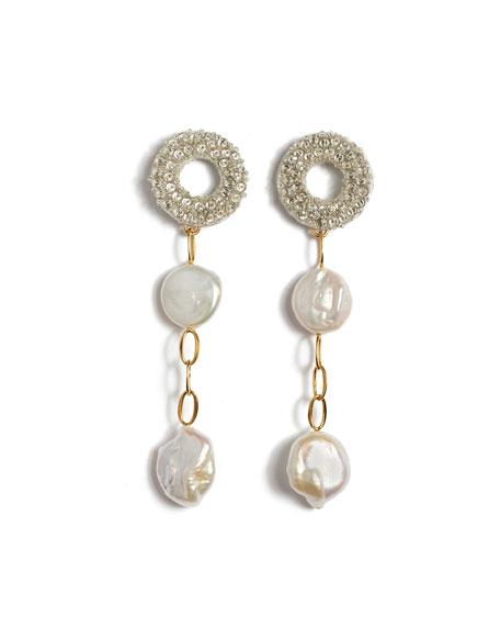Lizzie Fortunato Chateau Pearl Column Earrings