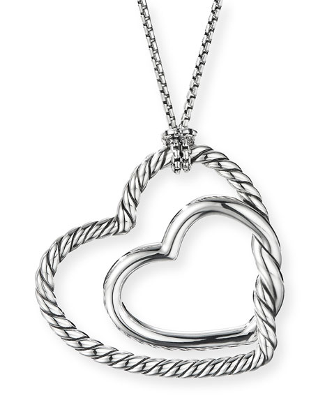 David Yurman Continuance Heart Pendant Necklace