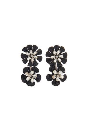 Mignonne Gavigan Karolina Crystal Earrings, Black