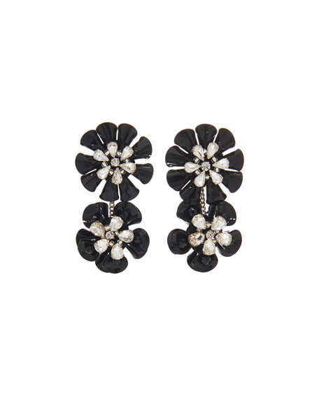 Mignonne Gavigan Karolina Crystal Earrings, Black