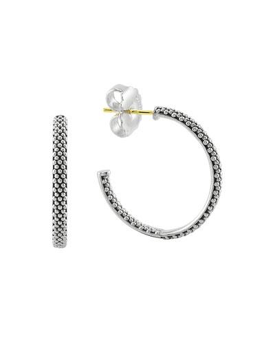 Signature Caviar Hoop Earrings  25mm