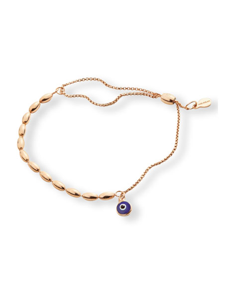 Alex and Ani Evil Eye Fancy Bead Pull Chain Bracelet