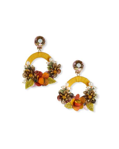 Ranjana Khan Mariah Hoop-Drop Clip Earrings