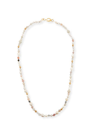 "Akola Long Mixed Bead and Pearl Necklace, 40""L"