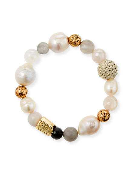 Image 1 of 2: Akola Mixed Pearl and Bead Stretch Bracelet