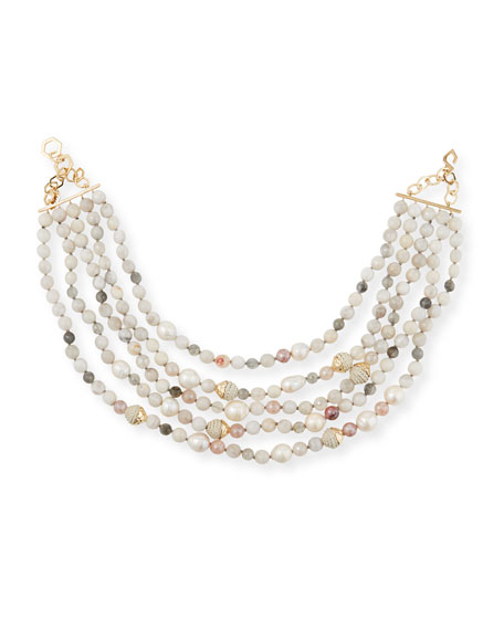 Image 1 of 2: Akola 5-Strand Beaded Necklace