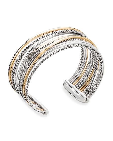 David Yurman DY Crossover Cuff Bracelet w/ 18k Gold
