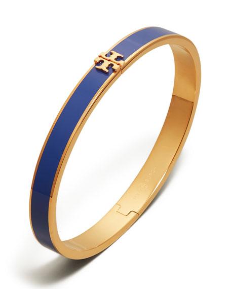 Tory Burch Kira Enameled Bracelet, Blue/Gold