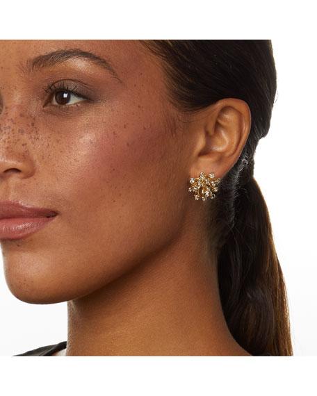 Alexis Bittar Crystal Burst Stud Earrings