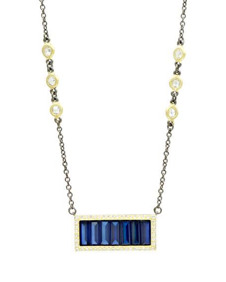 Freida Rothman Baguette Bar Pendant Necklace