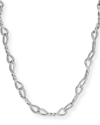 Continuance Silver Diamond & Link Necklace, 20