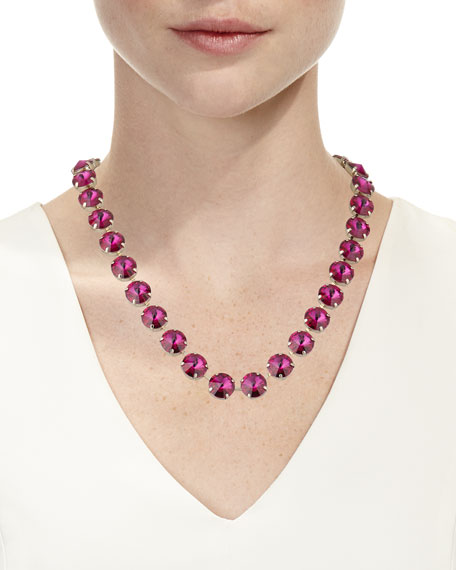 Rebekah Price Roxanne Rivoli Crystal Necklace, Fuchsia