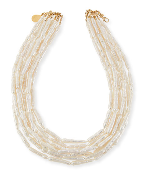 Image 1 of 2: Devon Leigh Freshwater Pearl Branch Multi-Strand Necklace