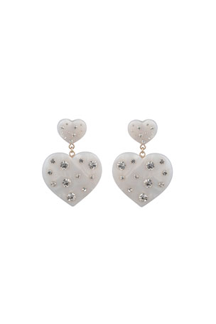 Dannijo Amante Heart-Drop Earrings