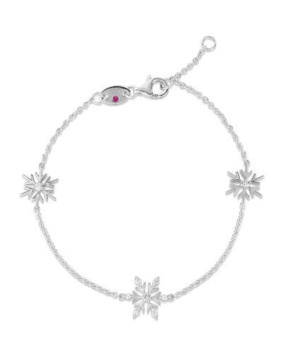 x Disney's Frozen 2 18k White Gold Snow Bracelet
