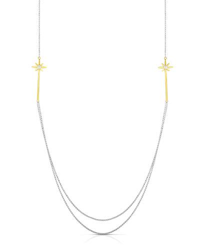 x Disney Cinderella Long Wand Multi-Strand Diamond Necklace